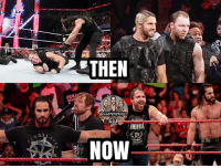 Memes, Saw, and Charlotte: THEN  au  ANBRDSE  NGS You actually have no idea how many people I saw saying Roman was gonna join Seth and Dean in the 2-3 tag match last night 😂 kevinowens chrisjericho romanreigns braunstrowman sethrollins ajstyles deanambrose randyorton braywyatt jindermahal baroncorbin charlotte samoajoe shinsukenakamura samizayn johncena sashabanks brocklesnar bayley alexabliss themiz finnbalor kurtangle greatballsoffire wwememes wwememe wwefunny wrestlingmemes wweraw wwesmackdown