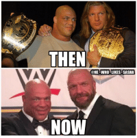 2 of the best to ever do it 🙌. I've heard rumors that once Kurt makes his eventual in ring return he'll feud with Triple H. Would you guys like to see that matchup happen in the future? wwe wwememe wwememes kurtangle tripleh hhh thegame stephaniemcmahon wrestlemania shawnmichaels wrestler wrestling prowrestling professionalwrestling worldwrestlingentertainment wweuniverse wwenetwork wwesuperstars raw wweraw mondaynightraw smackdown smackdownlive nxt wwenxt sdlive wwesmackdown: THEN  @HE WHO LIKES SASHA  NOW 2 of the best to ever do it 🙌. I've heard rumors that once Kurt makes his eventual in ring return he'll feud with Triple H. Would you guys like to see that matchup happen in the future? wwe wwememe wwememes kurtangle tripleh hhh thegame stephaniemcmahon wrestlemania shawnmichaels wrestler wrestling prowrestling professionalwrestling worldwrestlingentertainment wweuniverse wwenetwork wwesuperstars raw wweraw mondaynightraw smackdown smackdownlive nxt wwenxt sdlive wwesmackdown