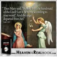 "Turn to God with all your heart, give Him your life now! http://www.tlig.org/en/messages/1149/: ""Then Mary said, Behodlalu the handmaid  of the Lord! Let it be to me according to  your word."" And the angel  departed from her.  Luke 1: 38  HEAMENISREAL  HEAVEN ISREAL Book  .COM Turn to God with all your heart, give Him your life now! http://www.tlig.org/en/messages/1149/"