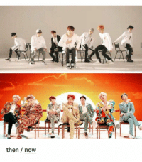 Bts, Now, and Hahaha: then / now Hahaha  #bts