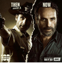 Oh YES!!!! 👌❤❤  @Anja: THEN  NOW  SEASON  WALKING DEAD  NEW SEASON  OCT 22  aMC Oh YES!!!! 👌❤❤  @Anja