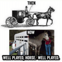 Horse, Now, and Well: THEN  NOW  WELL PLAYED, HORSE. WELL PLAYED