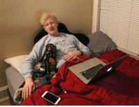 Phone, Tumblr, and Blog: theonion: Sleeping Man Flanked By Laptop, Phone, Earbuds Like Egyptian Pharaoh Buried With All His Treasures
