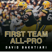 Memes, Packers, and Pro: THEPACKERPAGE  FIRST TEAM  ALL-PRO  DAVID BAKHTIARI @dbak69 has been named First Team All-Pro! Congrats 69! Packers (📸: @corey_a_wilson, Packers.com)