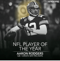 Aaron Rodgers; The NFL Player of the Year. Congrats, @aaronrodgers12 Packers NFL ESPYs GoPackGo (H-T @packer.franchise): THEPACKERPAGE  NFL PLAYER OF  THE YEAR  AARON RODGERS  QB GREEN BAY PACKERS Aaron Rodgers; The NFL Player of the Year. Congrats, @aaronrodgers12 Packers NFL ESPYs GoPackGo (H-T @packer.franchise)