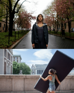 "thepeoplesrecord:  Columbia student will carry her mattress until her rapist exits schoolSeptember 2, 2014 While most students at Columbia University will spend the first day of classes carrying backpacks and books, Emma Sulkowicz will start her semester on Tuesday with a far heavier burden. The senior plans on carrying an extra-long, twin-size mattress across the quad and through each New York City building – to every class, every day – until the man she says raped her moves off campus. ""I was raped in my own bed,"" Sulkowicz told me the other day, as she was gearing up to head back to school in this, the year American colleges are finally, supposedly, ready to do something about sexual assault. ""I could have taken my pillow, but I want people to see how it weighs down a person to be ignored by the school administration and harassed by police."" Sulkowicz is one of three women who made complaints to Columbia against the same fellow senior, who was found ""not responsible"" in all three cases. She alsofiled a police report, but Sulkowicz was treated abysmally – by the cops, and by a Columbia disciplinary panel so uneducated about the scourge of campus violence that one panelist asked how it was possible to be anally raped without lubrication. So Sulkowicz joined a federal complaint in April over Columbia's mishandling of sexual misconduct cases, and she will will hoist that mattress on her shoulders as part savvy activism, part performance art. ""The administration can end the piece, by expelling him,"" she says, ""or he can, by leaving campus."" Read more As painful as I know the constant reminder of attending school with her rapist must be, I'm glad she won't be the only one forced to remember. I hope the rapist drops out immediately…or better yet, I hope he faces the justice he deserves.  : thepeoplesrecord:  Columbia student will carry her mattress until her rapist exits schoolSeptember 2, 2014 While most students at Columbia University will spend the first day of classes carrying backpacks and books, Emma Sulkowicz will start her semester on Tuesday with a far heavier burden. The senior plans on carrying an extra-long, twin-size mattress across the quad and through each New York City building – to every class, every day – until the man she says raped her moves off campus. ""I was raped in my own bed,"" Sulkowicz told me the other day, as she was gearing up to head back to school in this, the year American colleges are finally, supposedly, ready to do something about sexual assault. ""I could have taken my pillow, but I want people to see how it weighs down a person to be ignored by the school administration and harassed by police."" Sulkowicz is one of three women who made complaints to Columbia against the same fellow senior, who was found ""not responsible"" in all three cases. She alsofiled a police report, but Sulkowicz was treated abysmally – by the cops, and by a Columbia disciplinary panel so uneducated about the scourge of campus violence that one panelist asked how it was possible to be anally raped without lubrication. So Sulkowicz joined a federal complaint in April over Columbia's mishandling of sexual misconduct cases, and she will will hoist that mattress on her shoulders as part savvy activism, part performance art. ""The administration can end the piece, by expelling him,"" she says, ""or he can, by leaving campus."" Read more As painful as I know the constant reminder of attending school with her rapist must be, I'm glad she won't be the only one forced to remember. I hope the rapist drops out immediately…or better yet, I hope he faces the justice he deserves."