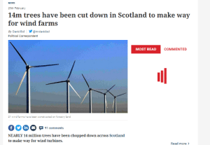 """thequantumqueer: bigboybone:  higherorder: I'd love to know how this is """"green"""" and """"environmentally friendly"""".  """"The figure for trees felled for windfarm development on Scotland's forests and land, as managed by FLS, over the past 20 years is 13.9 million. However, it should be noted that these trees – being a commercial crop – will have eventually have been felled and passed into the timber supply chain in any case."""" They added: """"That figure for felled trees should also be contrasted with that for the number of trees planted in Scotland over the years 2000 - 2019, a total of 272,000,000, and renewable energy developments fit well with this. """"To date, the amount of woodland removed across Scotland's national forests and land, managed by FLS, for windfarm development is not even one per cent of the total woodland area.""""basic reading comprehension really comes in handy i think  #please be aware that journalism companies rely on sensational headlines like this to get u to click on them#so u have to ACTUALLY READ THE ARTICLE or you won't get the full picture since the headline certainly won't give it to you : thequantumqueer: bigboybone:  higherorder: I'd love to know how this is """"green"""" and """"environmentally friendly"""".  """"The figure for trees felled for windfarm development on Scotland's forests and land, as managed by FLS, over the past 20 years is 13.9 million. However, it should be noted that these trees – being a commercial crop – will have eventually have been felled and passed into the timber supply chain in any case."""" They added: """"That figure for felled trees should also be contrasted with that for the number of trees planted in Scotland over the years 2000 - 2019, a total of 272,000,000, and renewable energy developments fit well with this. """"To date, the amount of woodland removed across Scotland's national forests and land, managed by FLS, for windfarm development is not even one per cent of the total woodland area.""""basic reading comprehension really comes in h"""