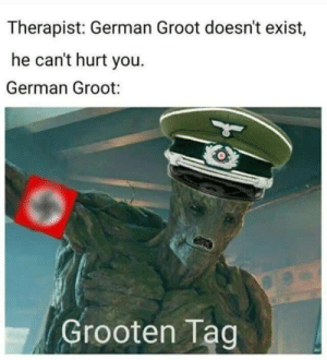 Memes, Http, and German: Therapist: German Groot doesn't exist,  he can't hurt you.  German Groot:  Grooten Tag NEIN!!! NEIN!!! NEIN!!! via /r/memes http://bit.ly/2LLLBsk