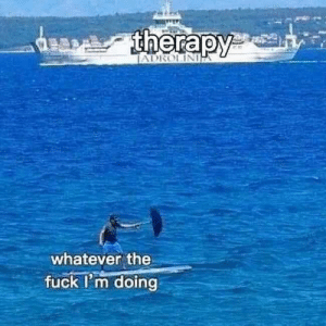 Fuck, MeIRL, and Therapy: therapy  JADROLIN  whatever the  fuck I'm doing meirl