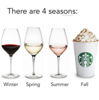like if you're excited for PSL season 😏🙌 (@elitedaily): There are 4 seasons:  @elitedaily  Winter Spg Summer  Summer  Fall like if you're excited for PSL season 😏🙌 (@elitedaily)