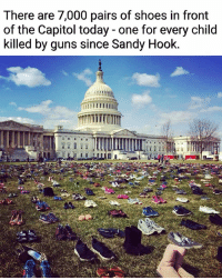 Guns, Memes, and Shoes: There are 7,000 pairs of shoes in front  of the Capitol today - one for every child  killed by guns since Sandy Hook. ✊🏽 NationalWalkoutDay ✊🏿 . PC 📸: @chrismurphyct NationalSchoolWalkout guncontrol massshooting