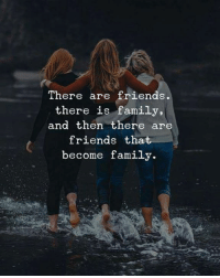 Family, Friends, and Then: There are friends  there is family,  and then there are  friends that  become family.