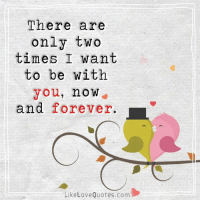 Memes, 🤖, and Love Quotes: There are  only two  times I want  to be with  you, no W  and forever. L  Like Love Quotes.com I want to be with you for the rest of my life...