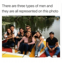 Mmh... John, Chad and Evan (*straight men): There are three types of men and  they are all represented on this photo  tench Mmh... John, Chad and Evan (*straight men)