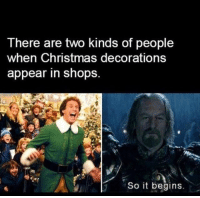 Which one are you?: There are two kinds of people  when Christmas decorations  appear in shops.  So it begins Which one are you?