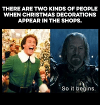 Happy 🦃day: THERE ARE TWO KINDS OF PEOPLE  WHEN CHRISTMAS DECORATIONS  APPEAR IN THE SHOPS.  So it begins Happy 🦃day