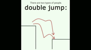 Double, There Are Two Types of People, and People: There are two types of people.  double jump: There are 2 types of gamers.