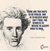 YUP! #BigGovSucks: THERE ARE TWO WAYS  TO BE FOOLED. ONE  IS TO BELIEVE WHAT  ISN'T TRUE; THE  OTHER IS TO  REFUSE TO ACCEPT  WHAT IS TRUE  SOREN KIERKEGAARD  TURNING  POINT USA YUP! #BigGovSucks