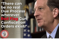 """Because stripping you of your constitutional rights in the middle of the night - not because you have committed a crime or would ever commit a crime - but because you've been subjectively determined to be dangerous is inherently a violation of Due Process. 2A gunowners gunownersofamerica goasupporters dueprocess redflaglaws: """"There can  be no rea  Due Process  wherever  Red Flag  Gun  Confiscation  Orders  exist.""""  Erich Pratt  ERS OF  America Because stripping you of your constitutional rights in the middle of the night - not because you have committed a crime or would ever commit a crime - but because you've been subjectively determined to be dangerous is inherently a violation of Due Process. 2A gunowners gunownersofamerica goasupporters dueprocess redflaglaws"""