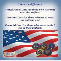 There Is a Difference Armed Forces Day for Those Who ...