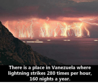 Memes, Lightning, and Time: There is a place in Vanezuela where  lightning strikes 280 times per hour,  160 nights a year. Incredible!