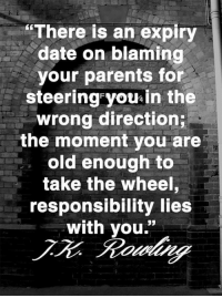 """Dating, Memes, and Parents: """"There is an expiry  date on blaming  your parents for  steering you in the  wrong direction  the moment you are  old enough to  take the wheel,  responsibility lies  with you."""