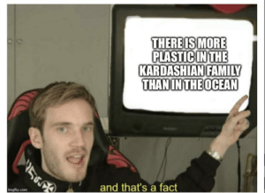Family, Kardashian, and Com: THERE IS MORE  PLASTICINTHE  KARDASHIAN FAMILY  THANINTHEOCEAN  and that's a fact  mgflip.com And that's a fact