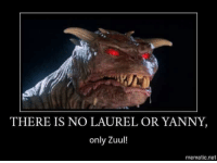 Memes, 🤖, and Net: THERE IS NO LAUREL OR YANNY  only Zuul!  mematic.net