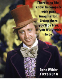 RIP: There is no life  I  know to compare  with pure  imagination.  Living there  you'll be free  if you truly wish  to be.  Gene Wilder  1933-2016 RIP