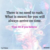 God, Life, and Love: There is no need to rush  What is meant for you will  always arrive on time.  Type 111 if you believe  Spirit science  ARCHANN NET 💙💜. Art by @archannair . . . . . inspirationalquotes quotes positivethinking inspiration motivation quotesoftheday instaquotes sayings words quotation motivationalquotes lifequotes qotd quotestagram god inspire positivity positivethoughts life like love follow