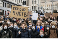 Children, School, and Kids: THERE IS NO  PLANETB High school kids ditch school every thursday until Belgian government changes its climate measurements. Todays total: 35.000 children. Lets hope we double it next week!