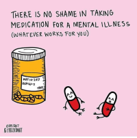 By @frizzkidart: THERE IS NO SHAME IN TAKING  MEDICATION FOR A MENTAL ILL NESS  (WHATEVER WORK FOR yo U)  MAY Ist 2017  E  REFIw:3  rAKE  0110512017 By @frizzkidart