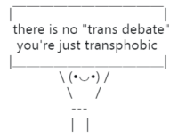 "intoxicatingimmediacy: jabletown:  theambassadorposts: yikes! ""trans debate"" is the newest iteration of such classics as ""the Jewish question"" and ""the Negro problem."" people aren't debatable   people aren't debatable : there is no ""trans debate""  you're just transphobic intoxicatingimmediacy: jabletown:  theambassadorposts: yikes! ""trans debate"" is the newest iteration of such classics as ""the Jewish question"" and ""the Negro problem."" people aren't debatable   people aren't debatable"
