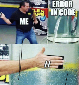 There no errors if there's no code: There no errors if there's no code