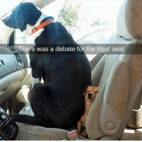 Fronting: There was a debate for the front seat