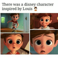 THIS IS THE CUTEST THING EVER: There was a disney character  inspired by Louis THIS IS THE CUTEST THING EVER