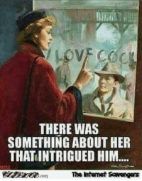 Memes, Wicked, and Naughty: THERE WAS  SOMETHING ABOUT HER  THATINTRIGUED HIM...  The Intemet Scavengers <p>Naughty memes and pics  Wicked chuckles  PMSLweb </p>