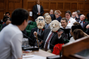 There were some hecklers in Canadian Parliament today: There were some hecklers in Canadian Parliament today