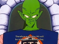 Piccolo: Therefore every May 9th will  be celebrated as Piccolo Day,