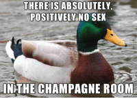 The Theres champagne no room in sex