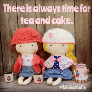 handmadegift-ideas:    CLOTH DOLL in nautical style   https://www.etsy.com/listing/241361527/cloth-doll-in-nautical-style-superhero : Thereis always time for  tea and cake.  handmadegift-ideas:    CLOTH DOLL in nautical style   https://www.etsy.com/listing/241361527/cloth-doll-in-nautical-style-superhero