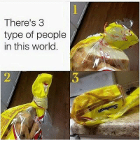 Memes, World, and 🤖: There's 3  type of people  in this world  dt