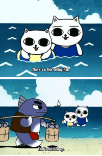 Anime: Cat Soup: There's a fish selling fish.  That's messed up Anime: Cat Soup
