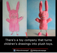 Memes, 🤖, and Plush: There's a toy company that turns  children's drawings into plush toys.  /didyouknowpagel  @didyouknowpage