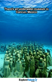 I MUST SEE THIS ONE DAY 😱🌊☀: There's an underwater museum in  Cancun, Mexico  Talent  Explore I MUST SEE THIS ONE DAY 😱🌊☀