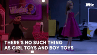 This beautiful ad is the perfect reminder that there's no such thing as girl toys and boy toys.  Toys are for all children.: THERE'S NO SUCH THING  AS GIRL TOYS AND BOY TOYS  Mic This beautiful ad is the perfect reminder that there's no such thing as girl toys and boy toys.  Toys are for all children.