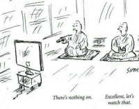 ·: There's nothing on.  Excellent, let's  watch that. ·