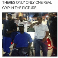 Crips, Memes, and Guess: THERES ONLY ONLY ONE REAL  CRIP IN THE PICTURE.  (mptng  cab- Can you guess who 🌚 • ➫➫ Follow @savagememesss for more posts daily