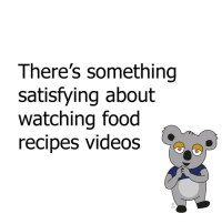 Memes, Recipes, and 🤖: There's something  satisfying about  watching food  recipes videos  LMH Is it just me?!