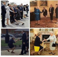 Theresa May curtsying to meet the Queen is so awkward, it's hilarious: Theresa May curtsying to meet the Queen is so awkward, it's hilarious